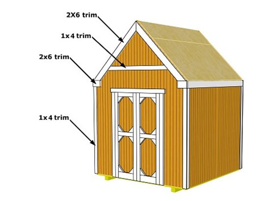 25 free garden shed plans for Gable barn plans