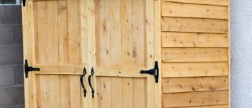 Small Cedar Fence Picket Storage Shed Plan