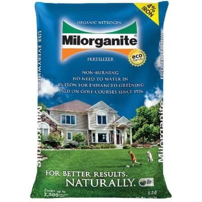 1) Milorganite Organic Nitrogen Fertilizer