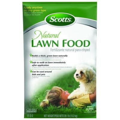 2) Scotts Natural Lawn Food