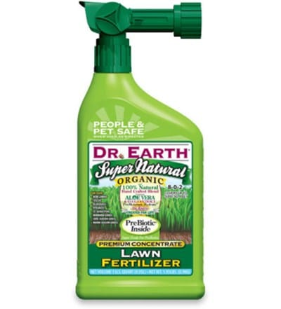 7) Dr. Earth Liquid Lawn Fertilizer