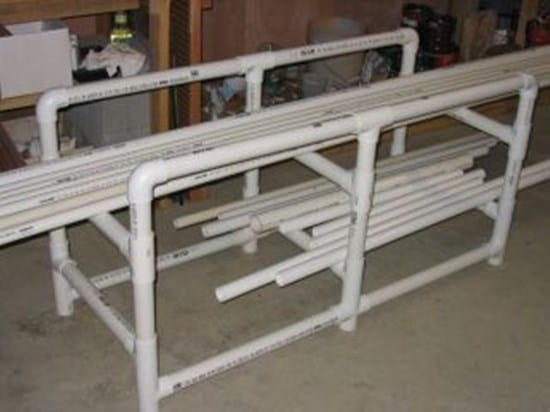 22 pvc rack pipe frame