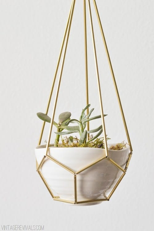 Leather-Brass-Hanging-Planter