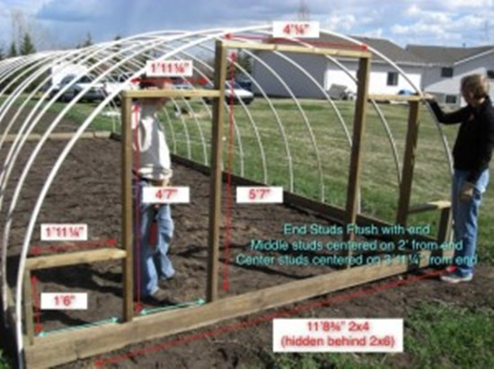 12 free plans for building diy greenhouse 1 hoop style greenhouse solutioingenieria Image collections