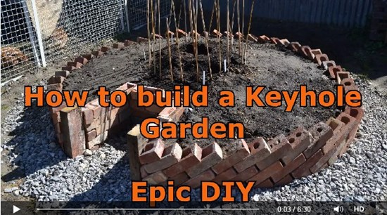 6) DIY keyhole garden made by the green thumb