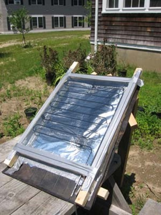 9) DIY solar panel water heater