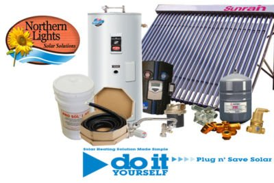 Solar Hot Water Heating Package - DIY Solar Kits