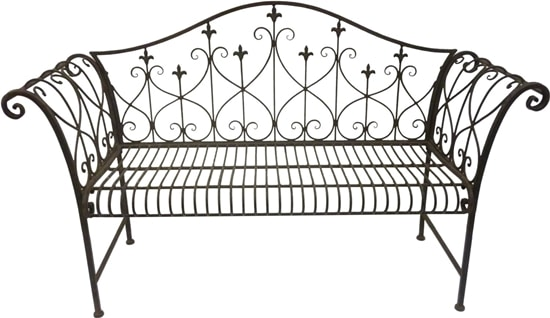 Vintage Look Metal Outdoor Garden Bench