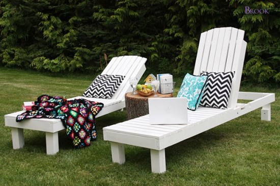 5) Outdoor chaise lounge