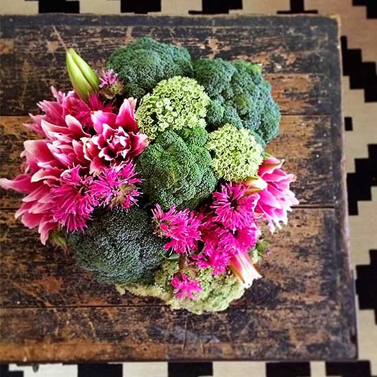 Opt for Bee balm and Lily and also Broccoli floral arrangements